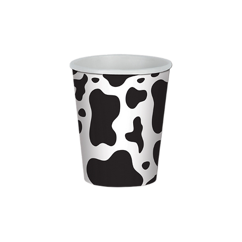8 x Cow Print Paper Cups