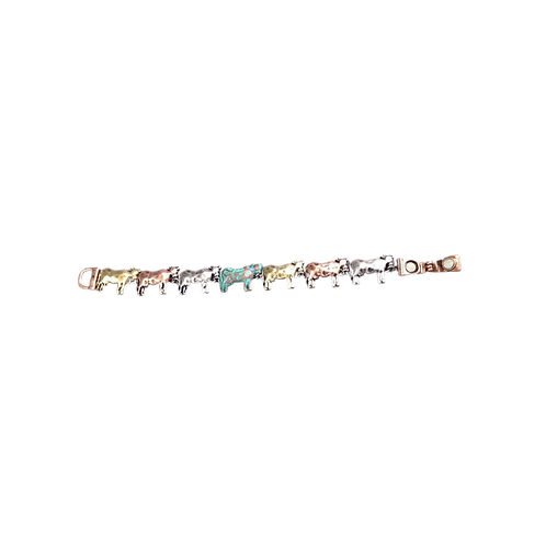 Linked Cows Bracelet