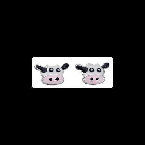925 Silver Cow Face earrings