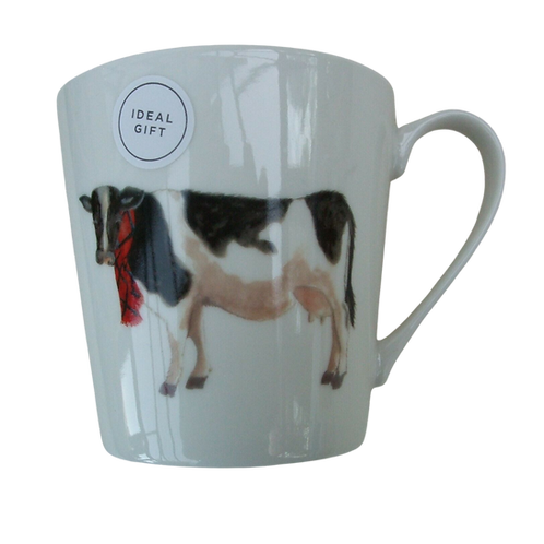 Cow With Tartan Scarf
