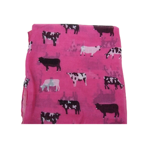 Pink Cow Scarf