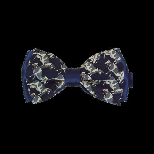 Navy Cows Bow Tie