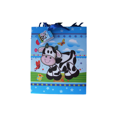 Colourful Cow Gift bag