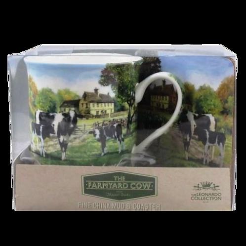 Cow & Calves Mug & Coaster Set