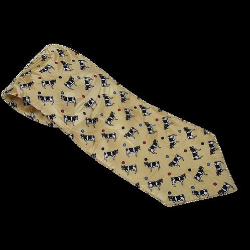 Tie 9 (Silk) Lemon Cows