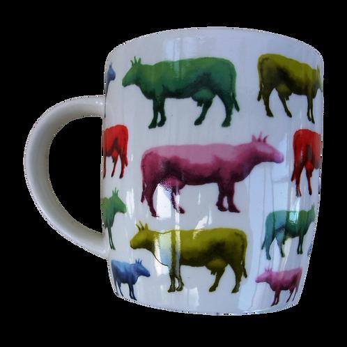Multi Colour Cow Mug