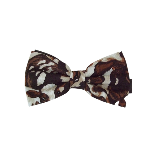 Brown Crowded Cows Bow Tie