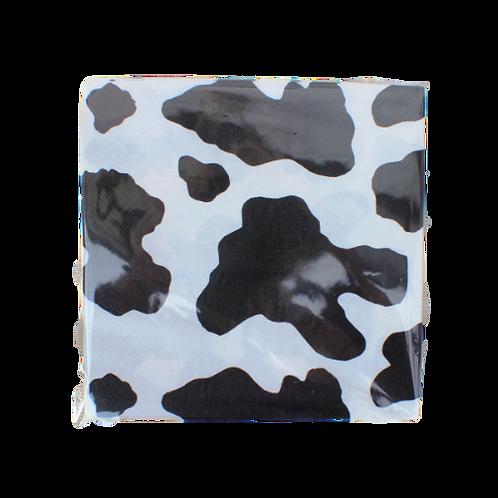 10 or 50 x Cow Print Napkins