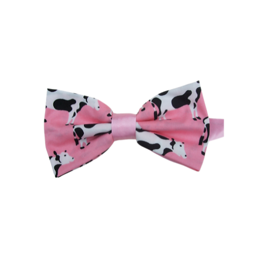 Pink Cows Bow Tie