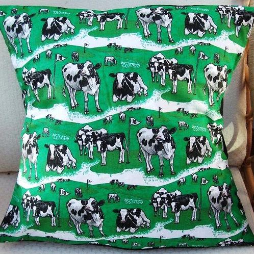 Cows & Golf Cushion
