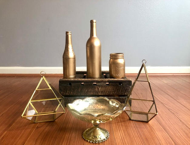 Gold Floral Vessels
