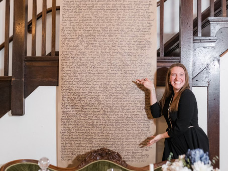 Add romance to your wedding with Calligraphy!