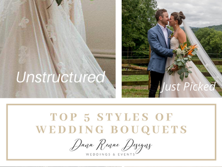 Top 5 Styles of Wedding Bouquets