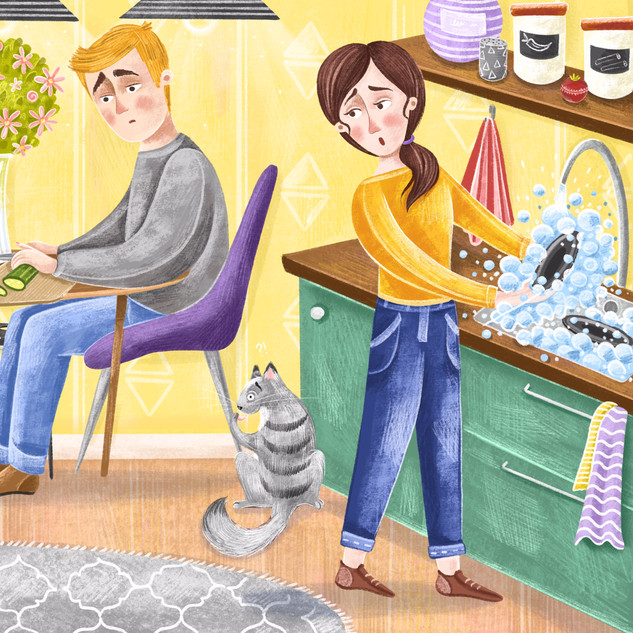 """Illustration for """"Worry and Me"""" children's book"""
