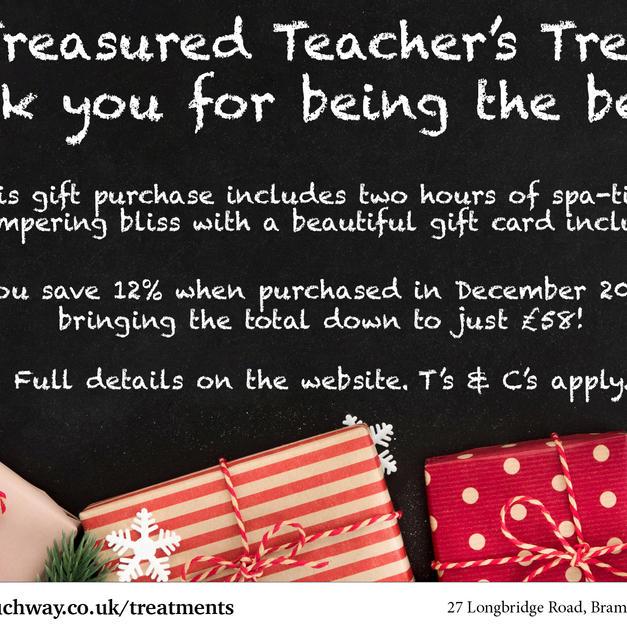 Teacher's Treat Offer