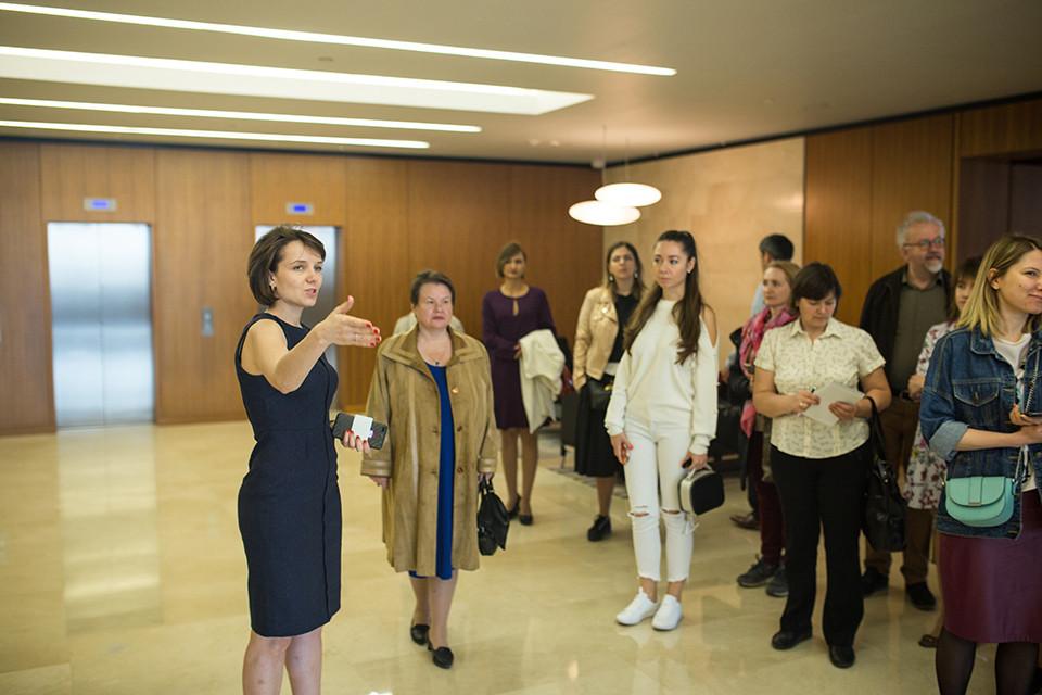 Елена Белевцева рассказывает об экологических преимуществах объекта компании - БЦ LightHouse.