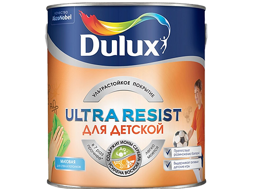 Краска Dulux Ultra Resist для детской (базы BW, BC)