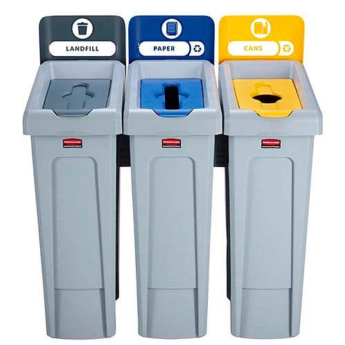 Комплект из трех контейнеров для РСО Slim Jim Recycling Station