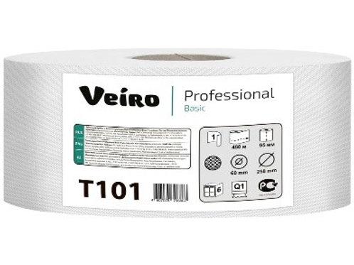 """Бумага туалетная Veiro Professional """"Basic""""(Q1) 1 слойн, 450м/рул, тиснение"""