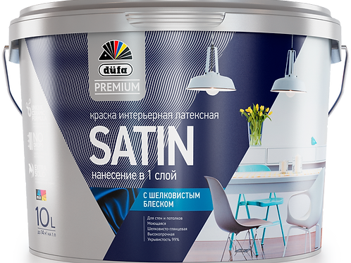 Краска водно-дисперсионная для внутренних работ Dufa Premium Satin (База1,База3)