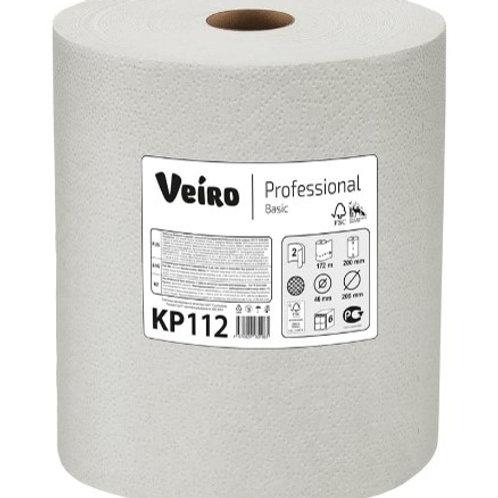 """Полотенца бумажные в рулонах Veiro Professional """"Basic""""(ультрапроч), 2-слойн.,"""