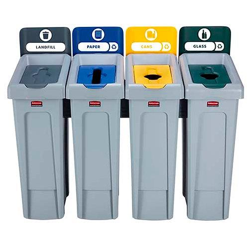 Комплект из четырех контейнеров для РСО Slim Jim Recycling Station