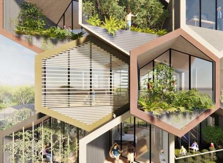 Зеленая архитектура будущего в форме сот: гибкость, самообеспечение энергией и рециркуляция воды