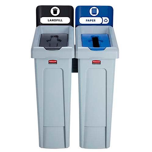 Комплект из двух контейнеров для РСО Slim Jim Recycling Station