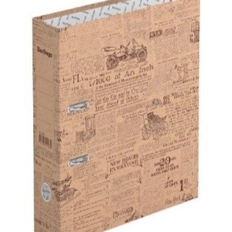 "Папка-регистратор Berlingo ""Newspaper"", 70мм, крафт-бумага, с рисунком"