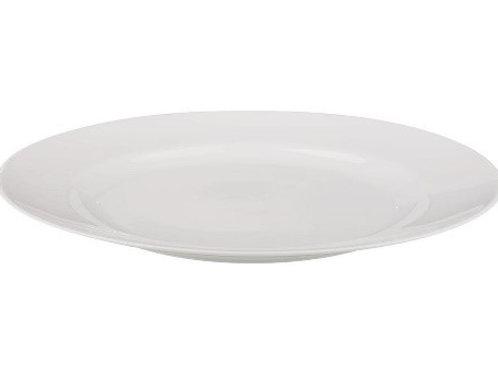 Тарелка обеденная Добруш фарфоровая белая 240 мм