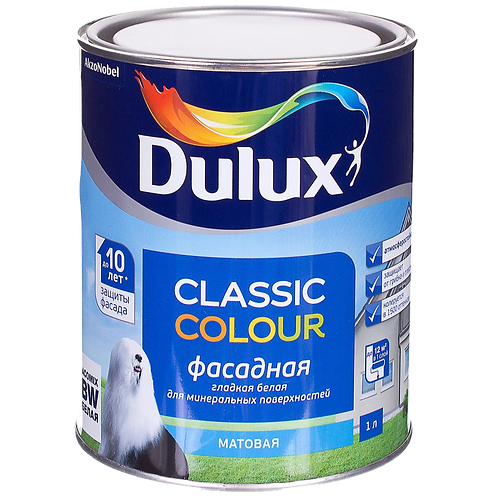 Краска Dulux Classic Colour фасадная (базы BW, BC)