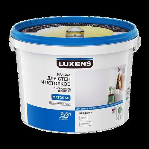 Краска для потолков и стен в коридорах и офисах Luxens (базы А, С)