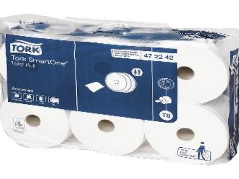 """Бумага туалетная Tork SmartOne """"Advanced""""(Т8) 2-слойная, 207м/рул, тиснение"""