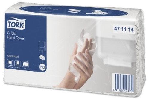 """Полотенца бумажные лист. Tork """"Advanced""""(С-сл)(H3), 2-слойные, 120л/пач"""