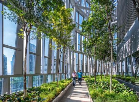 """Новый небоскреб в Сингапуре - воплощение слогана """"Город в саду"""""""