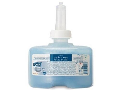 """Картридж с жидким мылом-гелем для тела и волос Tork """"Premium"""" (S2), 475 мл."""