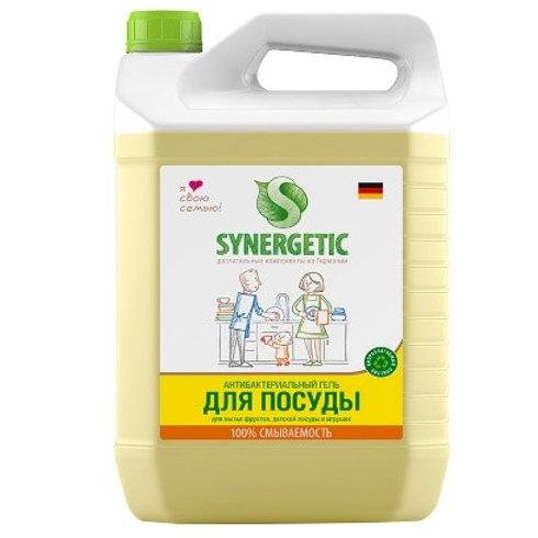 """Средство для мытья посуды, фруктов, игрушек Synergetic """"Лимон"""", антибакт.,5л."""