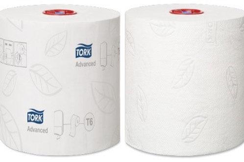 """Бумага туалетная Tork """"Advanced""""(Т6) 2-слойная, Mid-size рулон, 100м/рул, мягкая"""