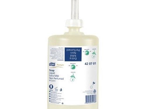 """Картридж с жидким мылом Tork """"Premium""""(S1), ультра-мягкое без запаха, 1л"""