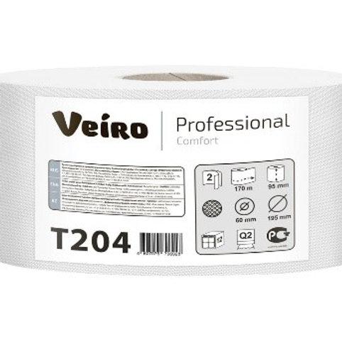 "Бумага туалетная Veiro Professional ""Comfort""(Q2, Т2) 2-слойная, 170м/рул"