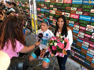 Miguel Ángel López y su novia Nathalia Acevedo