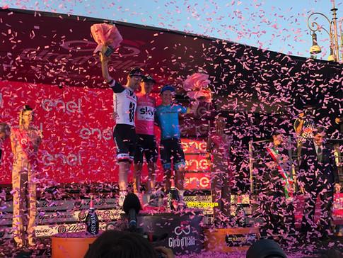 El podio final del Giro 101
