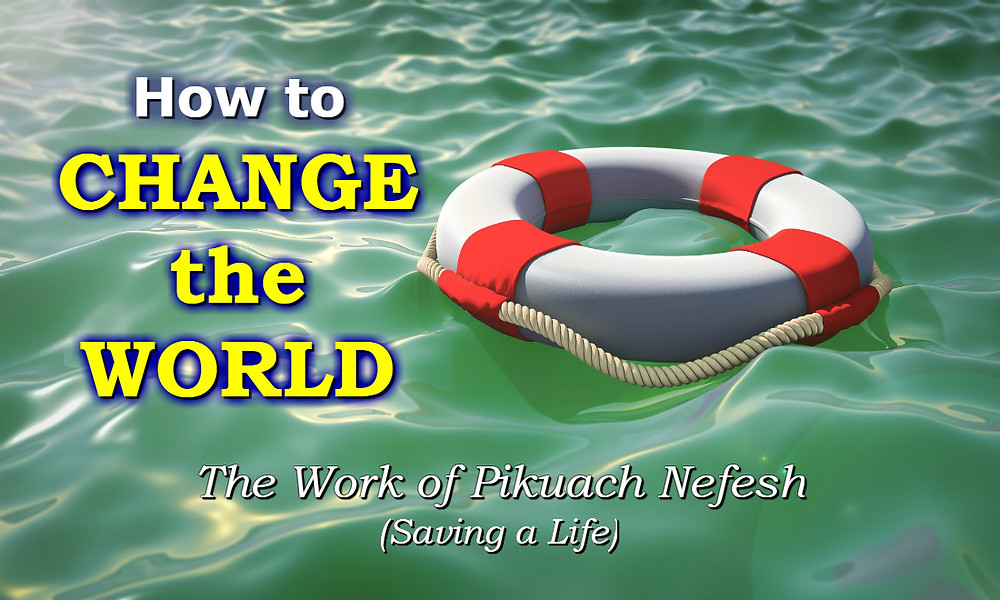 How to Change the World - Pikuach Nefesh (saving a life)