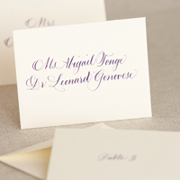 Calligraphy Escort Place Cards