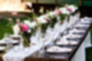 Oregon wedding planner table design and set up