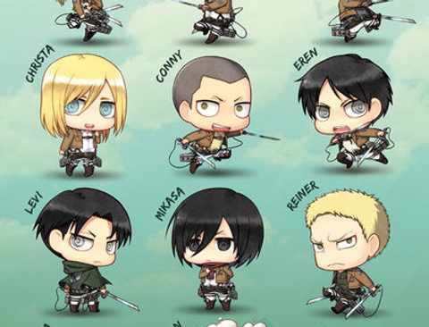 ATTACK ON TITAN Chibi Characters REF:507