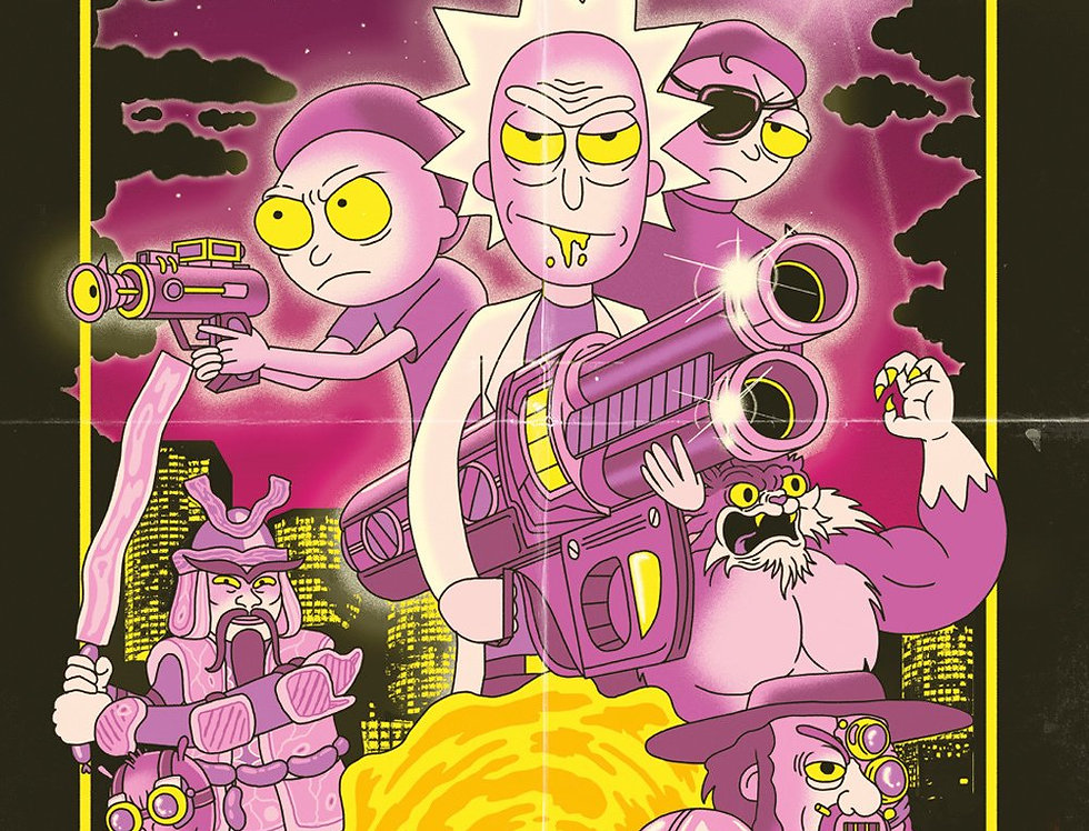 #587 Rick and Morty Action Movie Poster plastifié