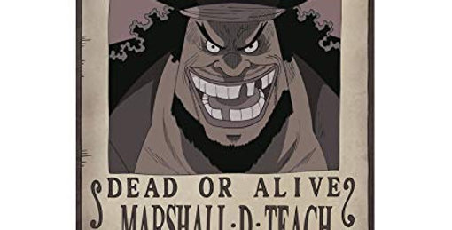"""ONE PIECE - Poster """"Wanted Marshall D. Teach"""" (52x35)"""