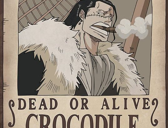 ONE PIECE Poster Wanted Crocodile