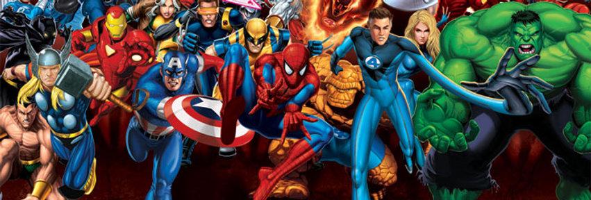 Poster plastifié Marvel Heroes (Attack) REF:594